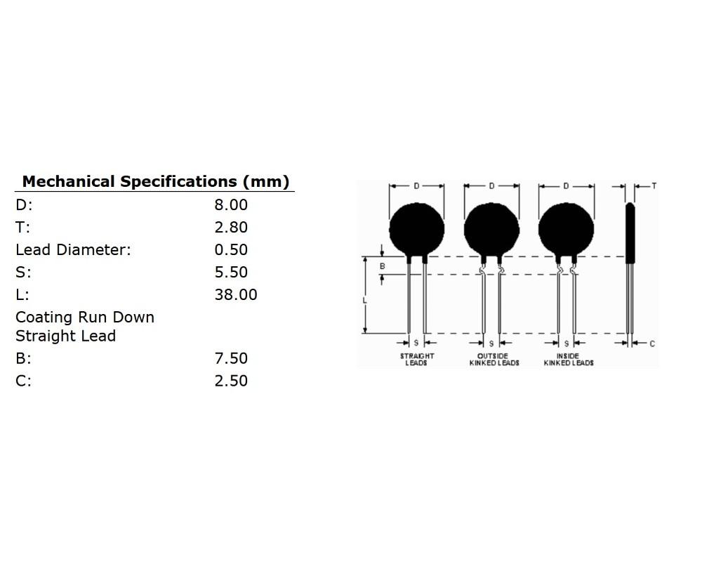 Ametherm Sl08 7r002 Current Limiter Transistor Limit Circuit Limiting