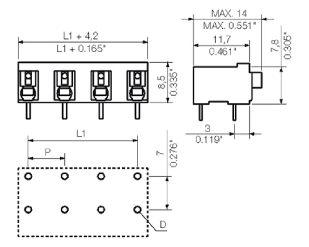 Weidmüller LSF-SMT 7.50/90 Series