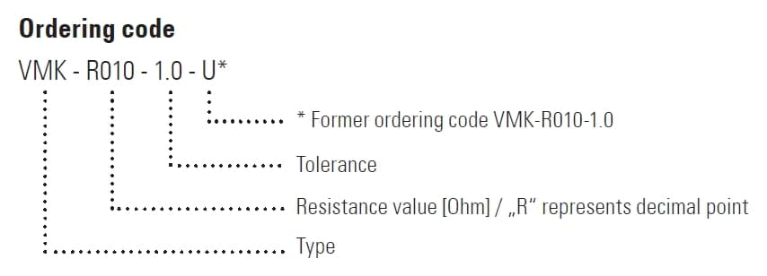 VMK Part Number Example