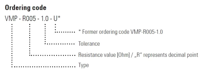 VMP Part Number Example