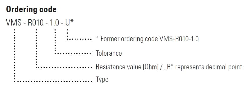 VMS Part Number Example