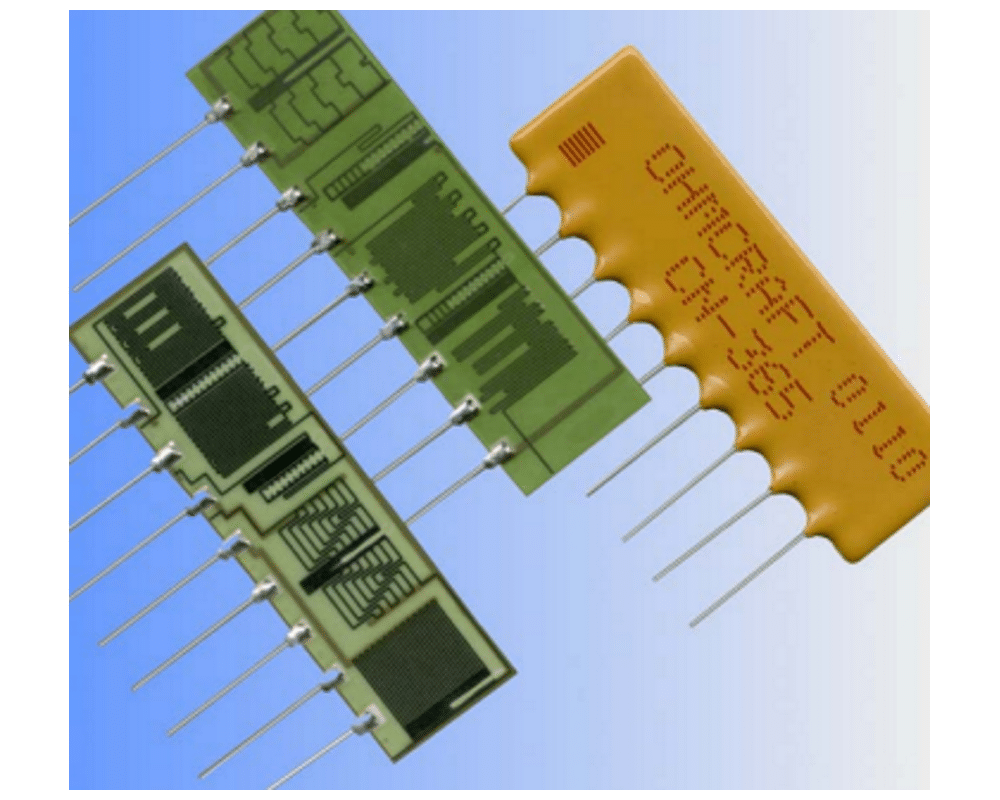 Image giving some example photos of Custom Resistor Networks (CN Series)