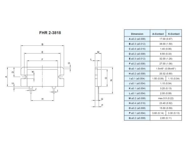 Powertron FHR 2 3818 resistor drawing image