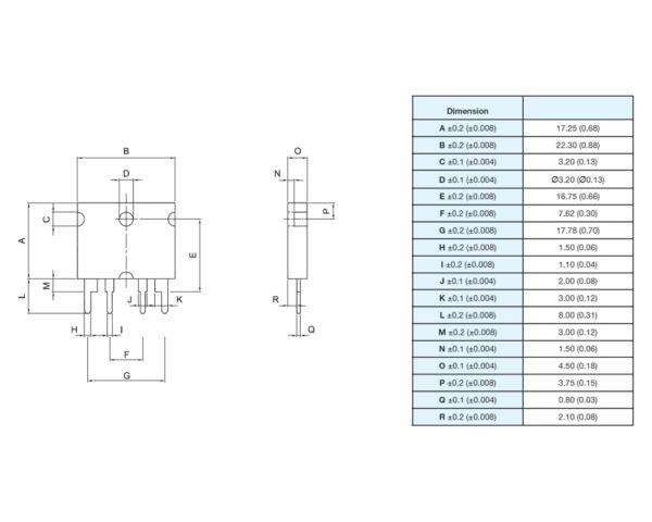 Powertron FHR 4-2321 precision power shunt resistor drawing